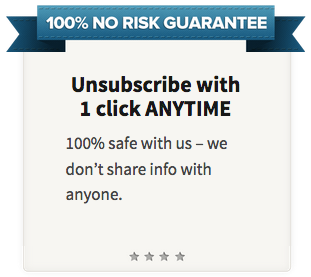 Unsubscribe with 1 Click Anytime